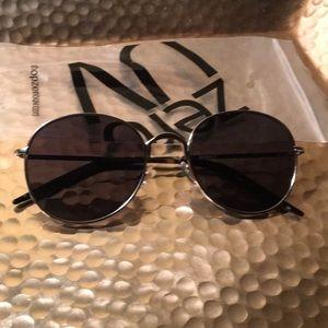 ZeroUV Round Wire Retro Sunglasses